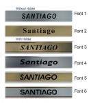 Santiago Clock Name Plate |World Time Zone City Wall clocks Sign custom Plaque